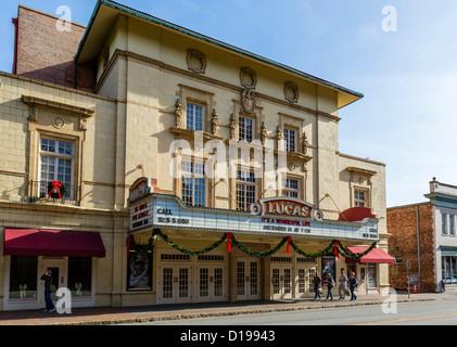 L'historique Théâtre Lucas, Abercorn Street, Savannah, Georgia, USA Banque D'Images