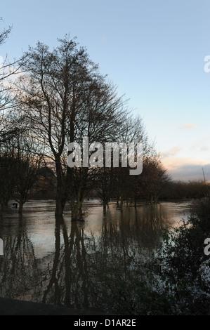 Les inondations à Norton sur Derwent, Yorkshire du Nord, Décembre 2012 Banque D'Images