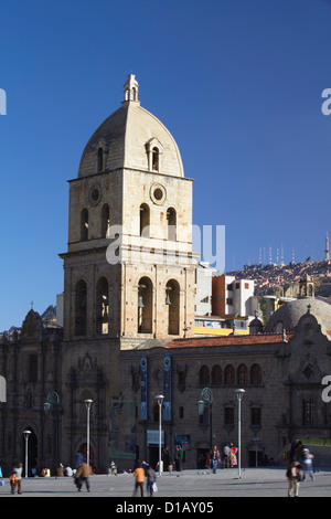 L'église de San Francisco sur la Plaza San Francisco, La Paz, Bolivie Banque D'Images