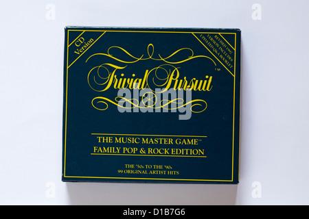 Jeu de poursuite trivial - le jeu de jeu de maître de musique famille Pop et Rock Edition jeu isolé sur fond blanc