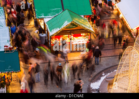 Marché de Noël au centre ville de Essen, Allemagne, Europe Banque D'Images