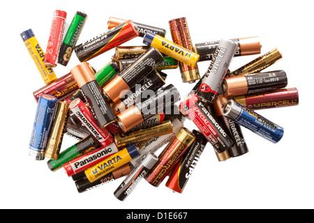 Sélection de batteries Banque D'Images