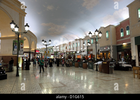À l'intérieur de l'Villaggio Mall Shopping Center à Doha, Qatar Banque D'Images