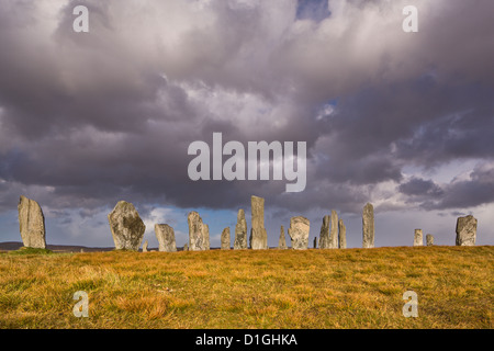 Averses à Callanish Stone Circle, Isle Of Lewis, îles Hébrides, Ecosse, Royaume-Uni, Europe