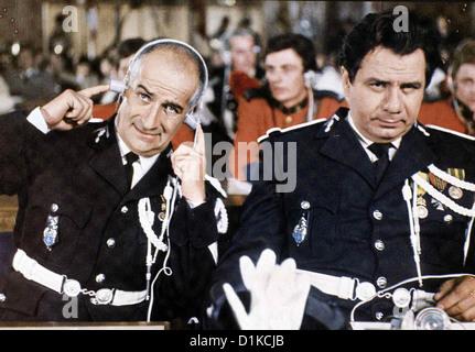 Der Gendarm Vom Broadway un gendarme à New York, le Louis de Funés, Michel Galabru (r.) *** légende locale *** Banque D'Images