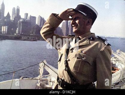 Der Gendarm Vom Broadway New York, le Gendarme Louis de Funés Cruchot (Louis de Funes), er glaubt haette Halluzinationen, Banque D'Images