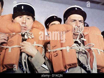 Der Gendarm Vom Broadway un gendarme à New York, le Jean Lefebvre, Louis de Funés *** *** Légende Locale 1966 Banque D'Images