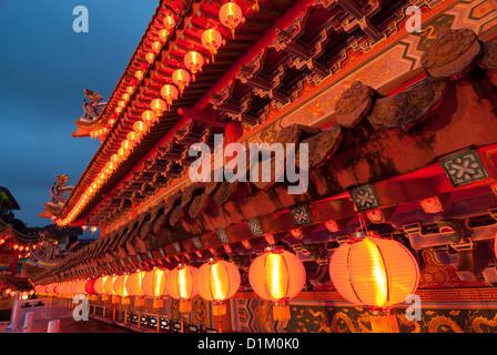 Le nouvel an chinois les décorations du temple Banque D'Images
