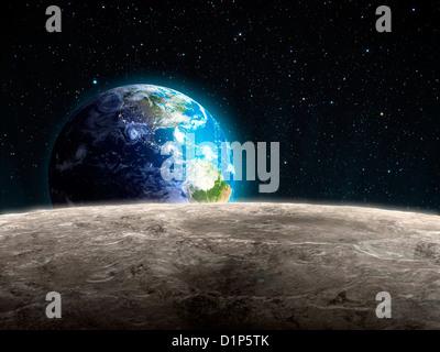 De Earthrise, artwork Banque D'Images