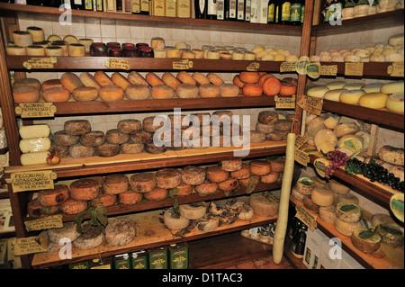 Fromage typique de Pienza, Val d'Orcia, Sienne, Toscane, Italie Roberto Nistri horizontale de l'alimentation Banque D'Images