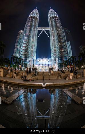 Petrona extremement tours jumelles. Kuala Lumpur, Malaisie Banque D'Images