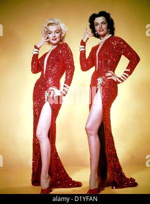 Hommes préfèrent les blondes 1953 20th Century Fox Film - photo promotionnelle de Marilyn Monroe à gauche et Jane Banque D'Images