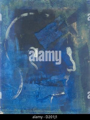 La peinture abstraite d'un homme's profile. Banque D'Images