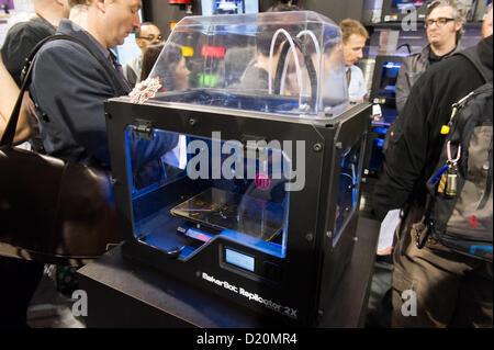 Las Vegas, États-Unis - 2013-01-08. La MakerBot Replicator 2X unité dévoiler au cours de CES, Consumer Electronics Banque D'Images