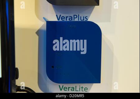 Las Vegas, États-Unis - 2013-01-08. Mi Casa Verde prototype du Z-Wave VeraPlus gateway dévoiler afficher au CES Banque D'Images