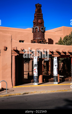 Musée des arts indigènes à Santa Fe New Mexico Banque D'Images