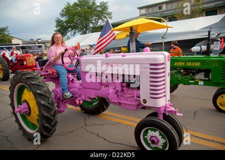 Défilé du tracteur au New York State Fair Banque D'Images
