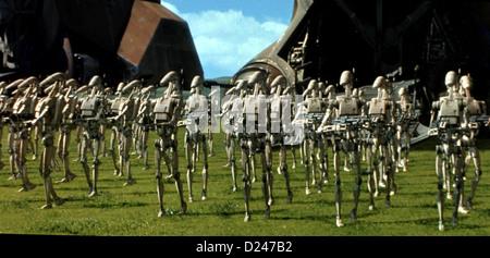 Star Wars: Épisode 1 - Die Dunkle Bedrohung Star Wars: Episode I La Menace Fantôme Voir *** *** Légende Locale Banque D'Images