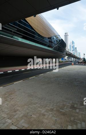 La station de métro de Dubaï, la plus avancée de la technologie de métro automatique Banque D'Images