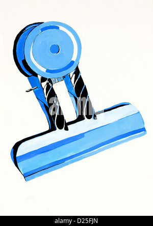 Abrégé Original couleur de l'eau et la peinture à la main ou croquis d'un clip de l'argent