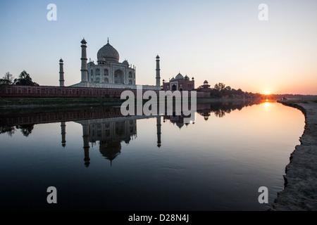 Taj Mahal, Agra, Inde Banque D'Images