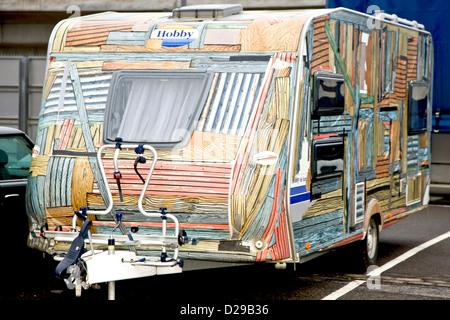 Drôle de caravane décorée Banque D\'Images, Photo Stock: 21917385 - Alamy