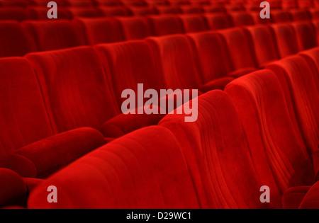 Berlin, Allemagne, des sièges vides dans une salle de cinéma