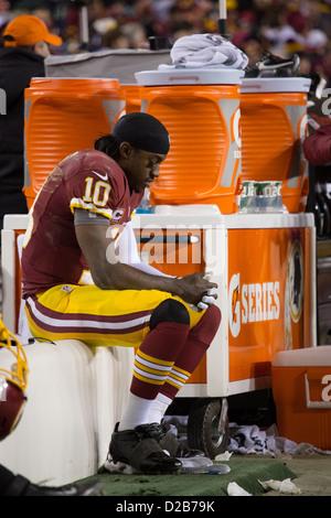 6 janvier 2013, les Redskins de Washington tombe à Seattle Seahawks 24-14. Robert Griffin III est sorti avec une Banque D'Images
