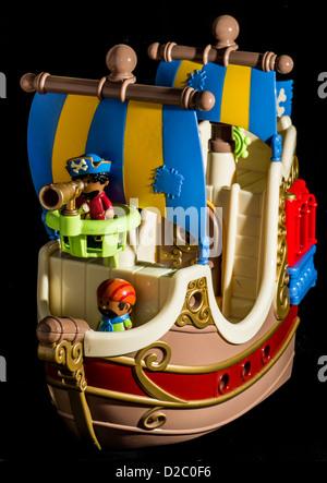 Jouet bateau de Pirate Banque D'Images