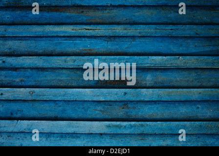 Vieux bleu dirty mur en bois. Image de haute qualité, idéal pour les milieux et les conceptions modernes de grunge. Banque D'Images