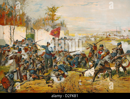 Bataille de Villiers ou Villiers-Champigny, 30.11.1870 durant le siège de Paris, guerre franco-allemande, 1870-1871