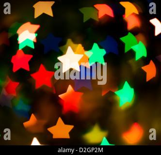 D'un arrière-plan couleur multi-stars Banque D'Images