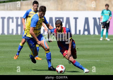 Barcelone, Espagne - 15 MAI: Rafa Alcántara, Rafinha, joue avec l'équipe des jeunes contre F.C Barcelona SC Las Banque D'Images