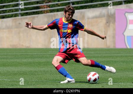 Barcelone, Espagne - 15 MAI: Sergio Ayala joue avec F.C Barcelona youth team contre SC Las Palmas le 15 mai 2011. Banque D'Images