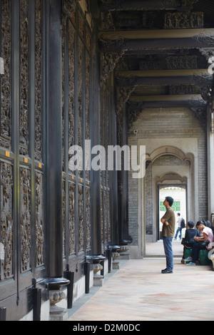 Les gens à l'Académie du clan Chen, Guangzhou, Guangdong, Chine Banque D'Images