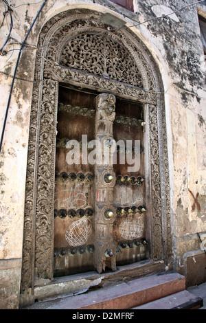 Ville historique de Stone Town sur l'île de Zanzibar, l'Afrique dans l'Océan Indien Banque D'Images
