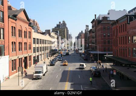 14ème rue, quartier de Meatpacking District, quartier du centre-ville, quartier de Manhattan, New York City, USA Banque D'Images