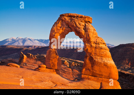 Delicate Arch, Arches National Park, près de Moab, Utah, États-Unis d'Amérique, Amérique du Nord Banque D'Images