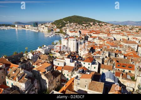 Split, Croatie, toits de Dioclétien,toits de Split, Croatie Banque D'Images