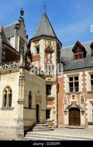 Leonardo da Vinci's House and Museum, Clos Lucé, Parc Leonardo da Vinci, Amboise, Indre-et-Loire, Loire, Centre, Banque D'Images
