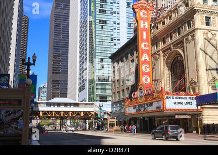 Chicago Theatre, State Street, Chicago, Illinois, États-Unis d'Amérique, Amérique du Nord Banque D'Images
