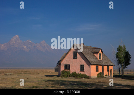 John et Bartha Moulton Homestead, Mormon Row Historic District, Grand Teton National Park, Wyoming, USA Banque D'Images