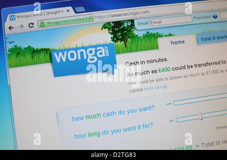 Wonga.com UK website screenshot