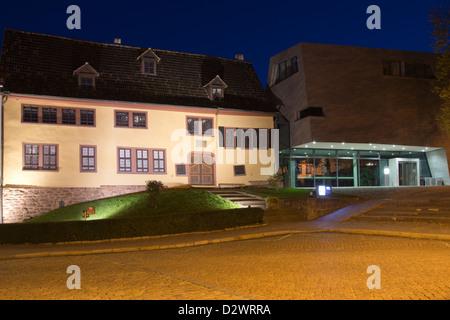 Maison de Bach et Musée Bach dans la lumière du soir, Eisenach, en Thuringe, Allemagne, Europe Banque D'Images