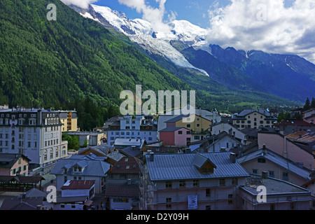 Ville Chamonix et le Mont Blanc, Savoie, France