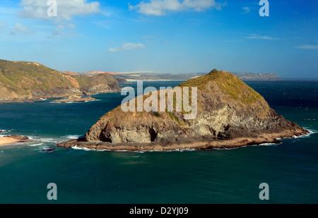 Vue de l'île de Cape Taupiri Maria Van Diemen en haut de la Nouvelle-Zélande Banque D'Images