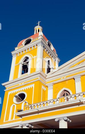 La Cathédrale de Grenade, (1583, reconstruit en 1915), Granada, Nicaragua, Amérique Centrale Banque D'Images