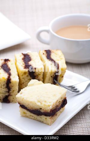 Petit déjeuner - clos-up composé de gâteau de maïs couche Banque D'Images