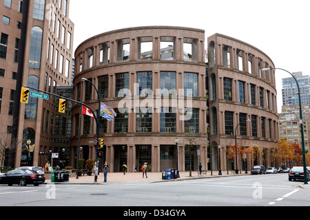 Bibliothèque publique de Vancouver BC Canada Banque D'Images