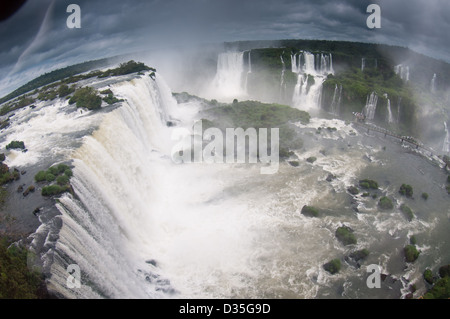 Iguassu Falls fish eye Banque D'Images